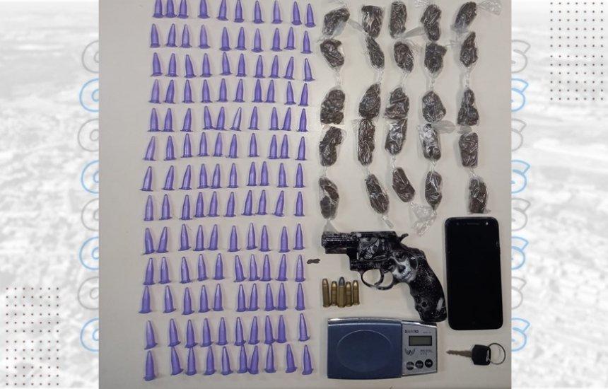 [Homem é preso com drogas e arma no Parque Verde II]