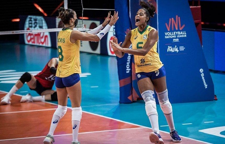 Brasil bate a Coreia do Sul e avança à semi da Liga das Nações