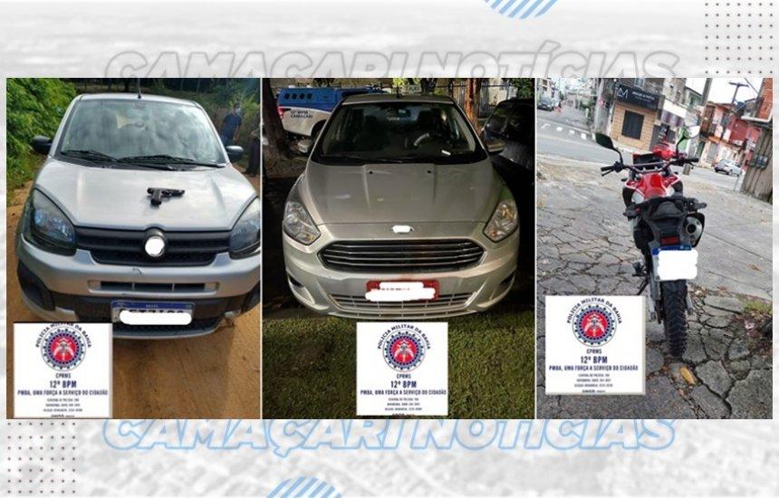 [Polícia Militar recupera três veículos roubados em Camaçari]