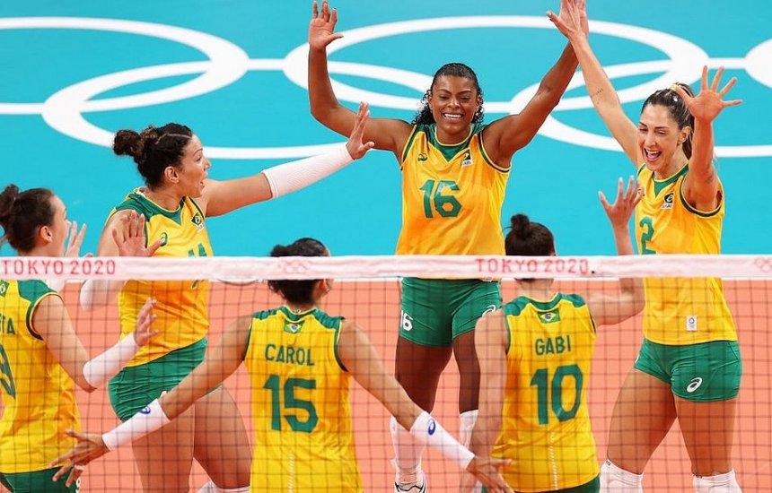 [Brasil bate o Quênia e pega russas nas quartas do vôlei feminino]