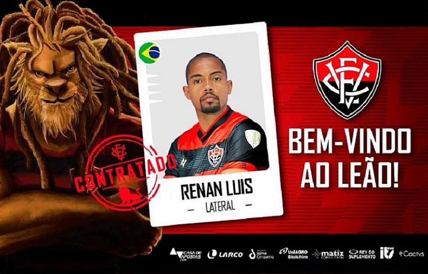 [Lateral esquerdo Renan Luís é o novo reforço do Vitória para a Série B]