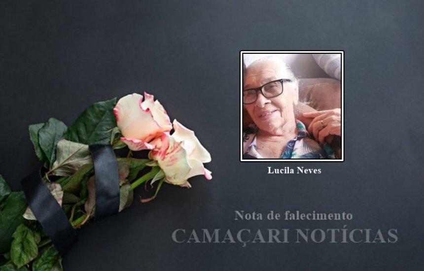 [Nota de Pesar: familiares e amigos se despedem de Lucila Neves]