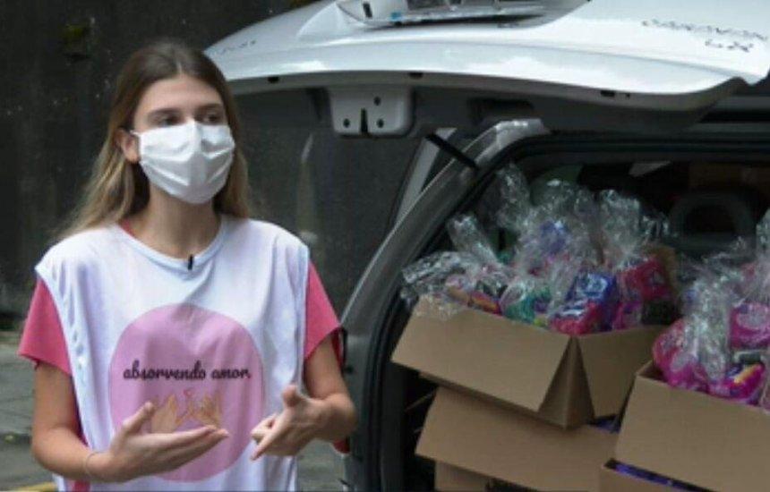 [Adolescente cria ONG para conseguir doações de absorventes para meninas em situação de vulnerabilidade]