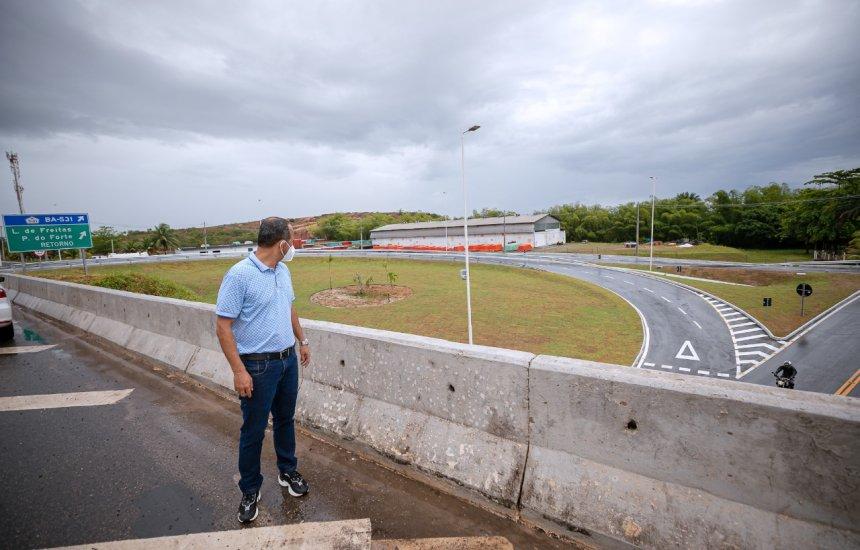 Após liberação do sistema viário do Trevo da Cascalheira, prefeito Elinaldo faz vistoria